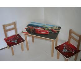 "Столик + 2 стульчика МКС 01/12 ""ТИПА ТАЧКИ"" (600*400, ЛДСП, БУК)"