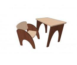 """Набор мебели стол + стул МКС 03/3 """"ПОД ДЕРЕВО"""" (ЛДСП, 600*400)"""